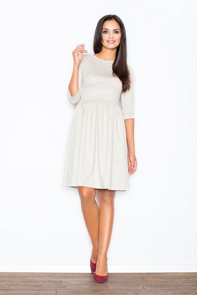 Šviesios smėlio spalvos suknelė